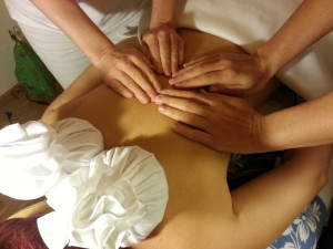 4 Hände Öl Massage