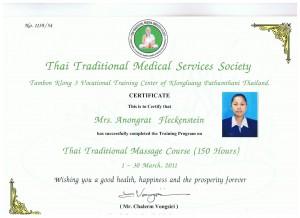 Thaimassage Zertifikat Matt